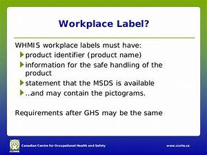 whmis after ghs for employers With whmis workplace label template