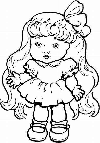 Coloring Doll Pages Dollhouse Toys Bratz Dolls