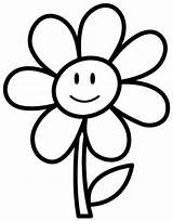 Daisy Flower Outline Coloring Pages Clipartmag sketch template