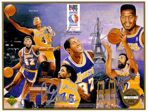los angeles lakers autographed upper deck card