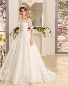 plus size vintage wedding dresses shop vestido de noiva longa three quarter sleeves a line wedding dress with sash