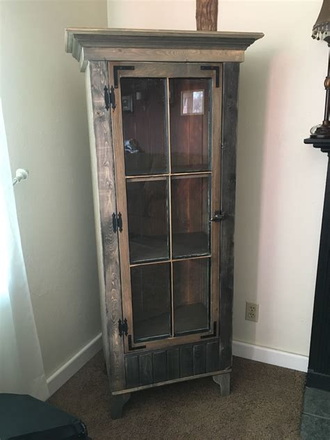 rustic curio cabinets buy a custom rustic curio cabinet with reclaimed antique