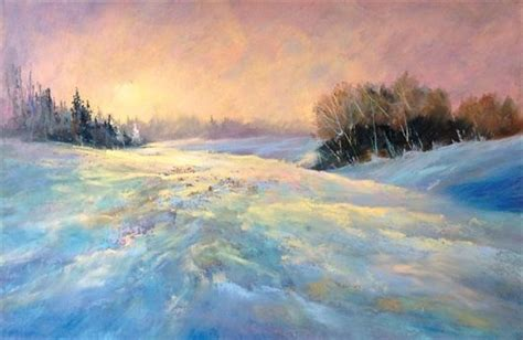 How To Paint A Snowy Winter Landscape In Pastel With Les