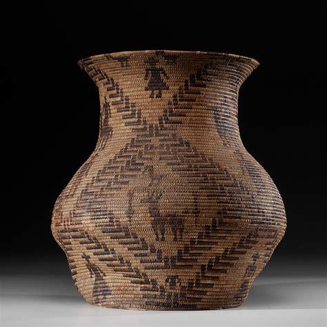 tohono oodham figural basket olla cowans auction house