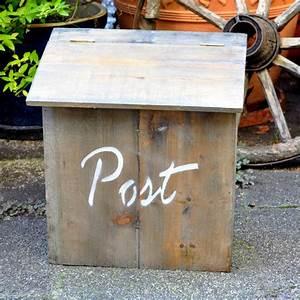 Briefkasten Aus Holz : weiteres holzbriefkasten briefkasten aus holz shabby chic ein designerst ck von shabbyflair ~ Udekor.club Haus und Dekorationen