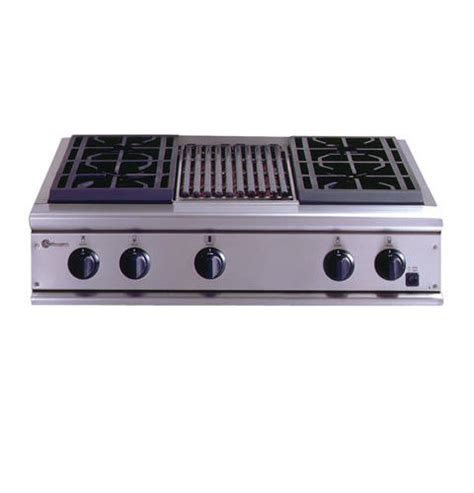 ge monogram  professional gas cooktop   burners  grill zgulryss ge appliances