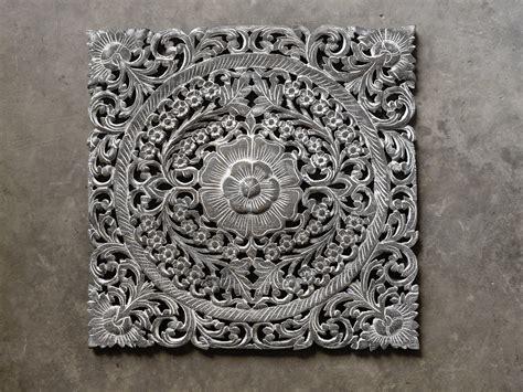 Buy Thai Motif Floral Carved Wood Wall Hanging Online