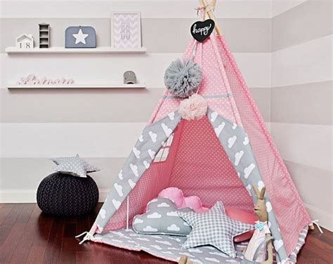 Tipi Kinderzimmer Rosa by Tipi Zelt Cloudy Kinderzimmer Kinder Tipi