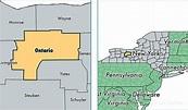 Ontario County, New York / Map of Ontario County, NY ...