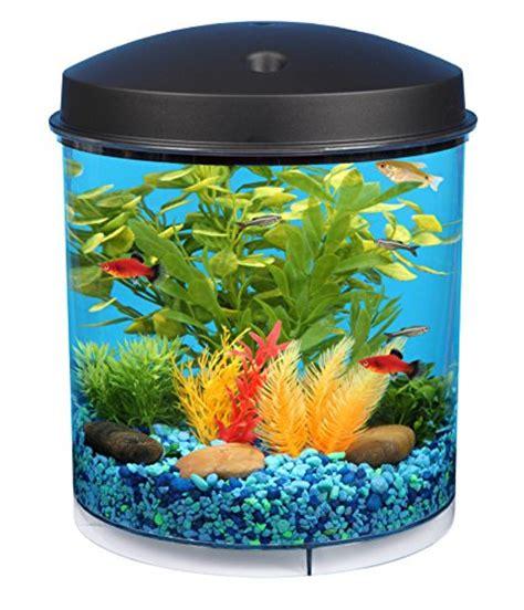 fish tank with filter and light 2 gal starter aquarium kit led light fish tank bowl filter