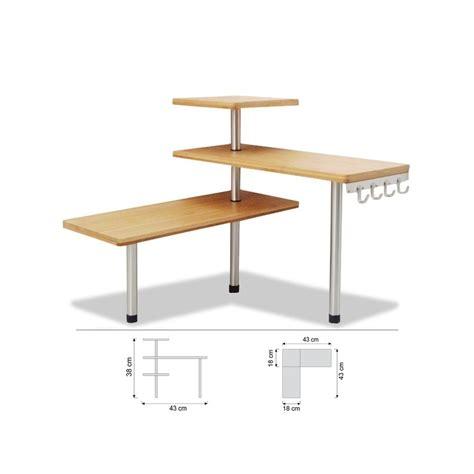 etagere angle cuisine etagère d 39 angle en bambou avec crochets petit meuble de