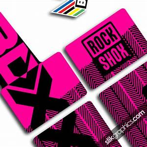 RockShox PIKE 2013 Style Decals White Forks Slik Graphics