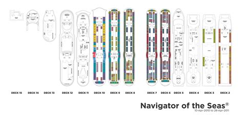 navigator of the seas deck plan 10 royal caribbean international navigator of the seas