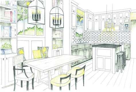 Kuche Zeichnung by Bronwyn Designs I My