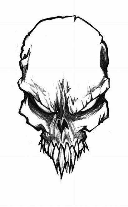 Skull Drawings Sketch Evil Pencil Jerner Clipartbest
