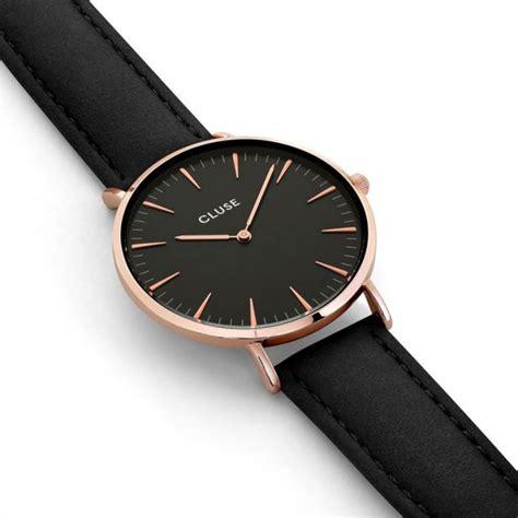 montre cluse la boheme cl montre noire doree femme