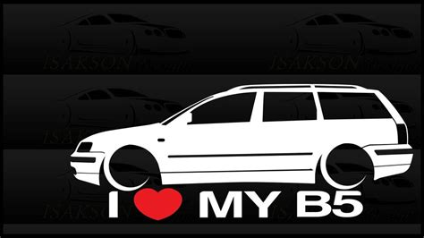 i my b5 passat sticker vw volkswagen slammed germany wagon sedan ebay