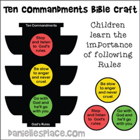 ten commandments crafts and for sunday school and 10 | ten commandments traffic sign craft