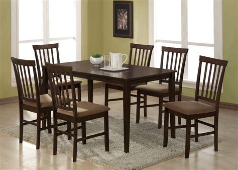 Maeve 7piece Dark Brown Modern Dining Set  See White