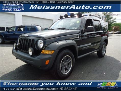jeep renegade dark blue black 2006 jeep liberty renegade 4x4 dark light slate