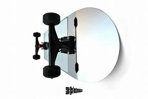 Skate Mirror : Glass skateboard to hang on your wall.