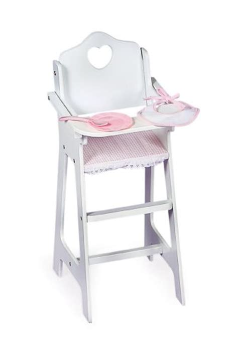 badger basket white doll high chair w shopifx