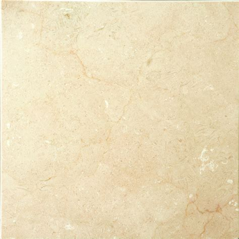 marble tile flooring shop emser crema marfil plus marble floor and wall tile common 18 in x 18 in actual 18 in x