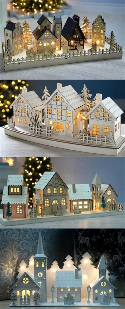 wooden christmas village scenes christmas villages