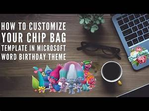 How To Customize Your Chip Bag Template In Microsoft Word