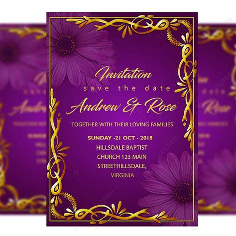 gold wedding invitation card template   gold frame