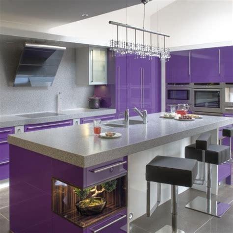 deco cuisine violet cuisine violet vert