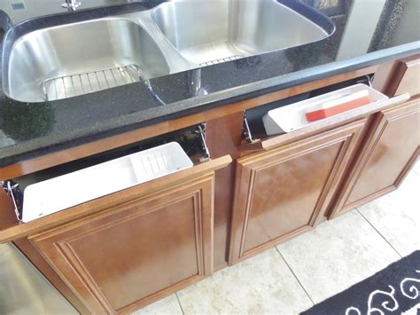 tilt out trays for kitchen sink how to install a sink front tip out tray be my guest 9475