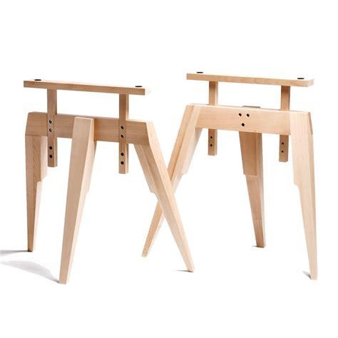 treteaux pour bureau tréteaux en bois pour bureaux et plateau tables deco