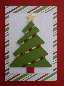 Weihnachtskarten Selber Basteln Anleitung : weihnachtskarten basteln tannenbaum perlen ketten idee rot gruen weiss xm pinterest ~ Yasmunasinghe.com Haus und Dekorationen