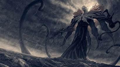 Kraken Fantasy Monsters Wallpapers Storm Drawing Sketch
