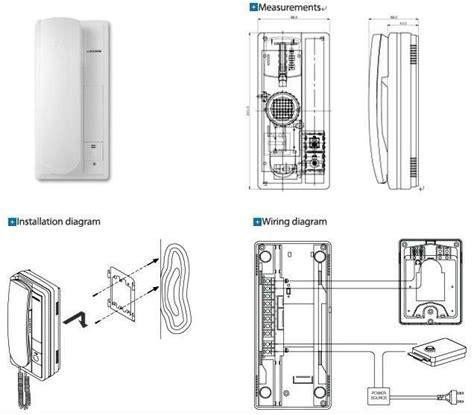 Wire Apartment Intercom Audio Door Phone For Single
