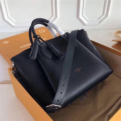 louis vuitton black haumea bag mahina leather