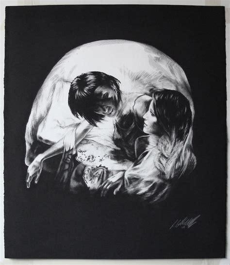 Charcoal Drawings Skulls Show Incredible Artistic Talent