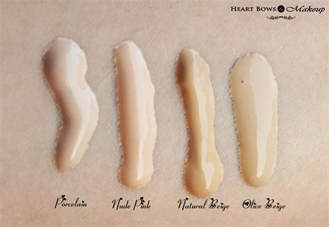 oriflame   illuskin foundation review swatches price heart bows makeup