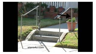 Outdoor Metal Handrails For Stairs by The Cheapest Exterior Stair Handrail Money Saving Ideas YouTube