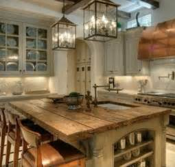 Rustic Kitchen Lighting Ideas by The Rustic Kitchen Island Would Change The Wall
