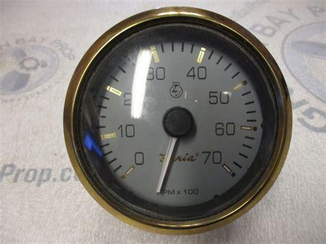 tc9916a faria marine boat tach tachometer 7k 7000 rpm 3 1 4 quot grey gold ebay
