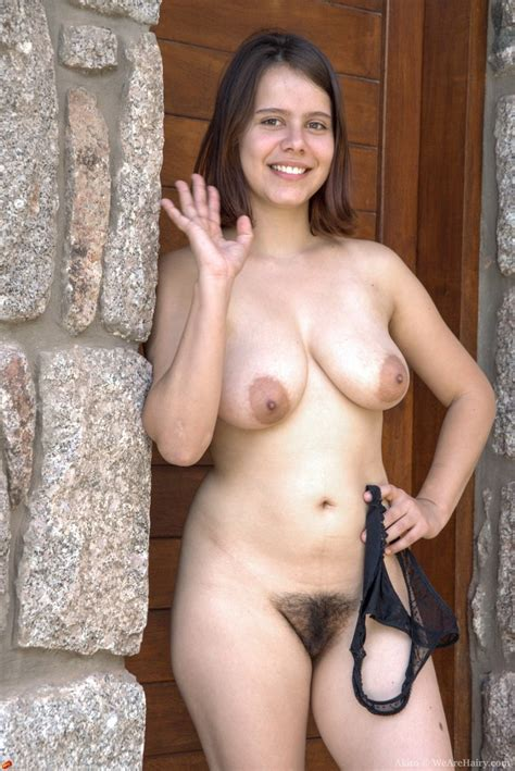 wearehairy akito akito strips naked outdoors in her local village