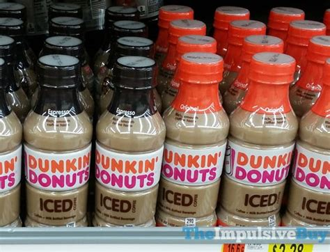 In need of a coffee and donut fix? SPOTTED ON SHELVES: Dunkin' Donuts Bottled Iced Coffee - The Impulsive Buy