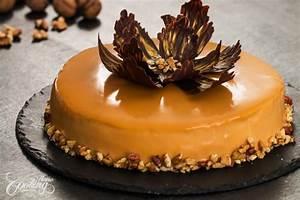 Walnut Caramel Mirror Cake :: Home Cooking Adventure
