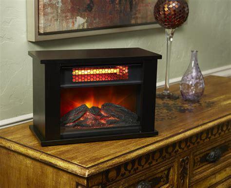 lifesmart pro tabletop electric fireplace  black