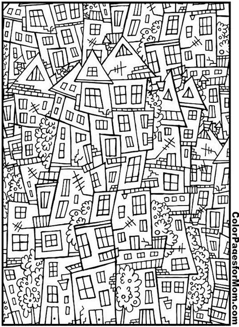 house coloring page  zentangle ausmalbilder fuer grosse