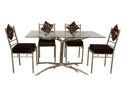 dining table  glass   chair  rs  set