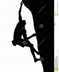 Climber silhouette stock vector. Image of climber, image ...