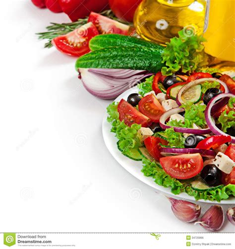 cuisine free cuisine fresh vegetable salad isolated stock photo